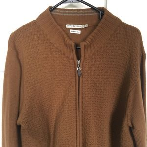 Peter Millar Merino Wool Zip Up Sweater L